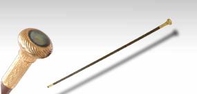 圓形鑲貝手杖